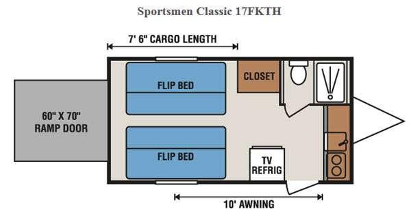 Floorplan - 2016 KZ Sportsmen Classic 17FKTH