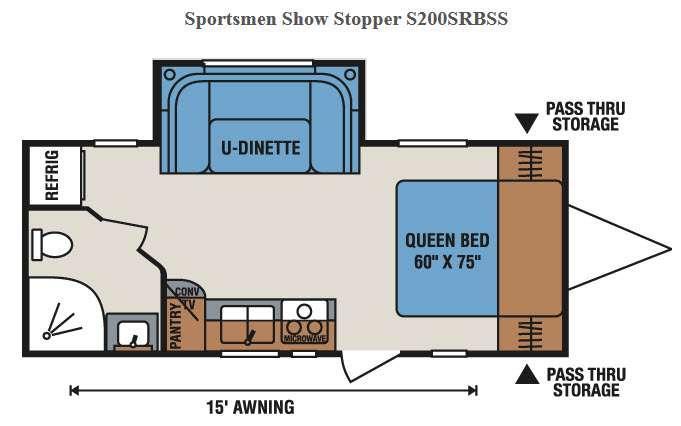 Floorplan - 2016 KZ Sportsmen Show Stopper S200SRBSS