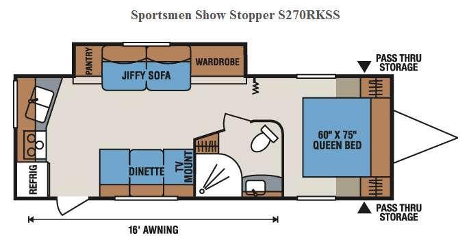 Floorplan - 2016 KZ Sportsmen Show Stopper S270RKSS