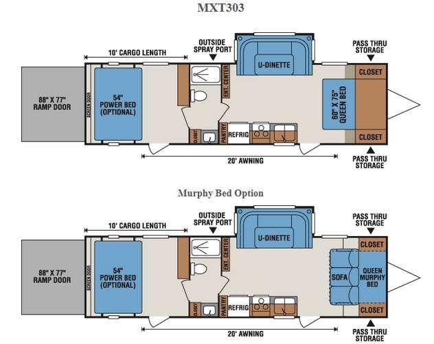 Floorplan - 2016 KZ MXT MXT303