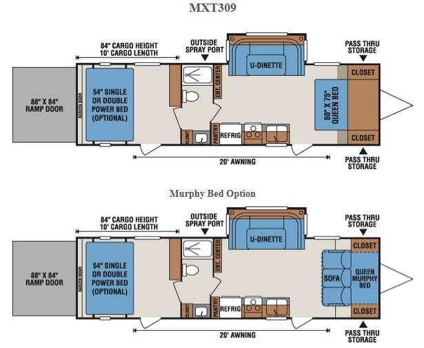 Floorplan - 2016 KZ MXT MXT309