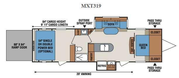Floorplan - 2016 KZ MXT MXT319