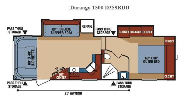 Floorplan - 2016 KZ Durango 1500 D259RDD