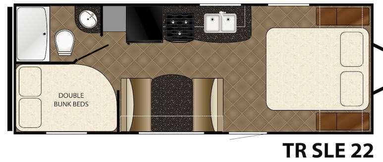 Floorplan - 2016 Heartland Trail Runner 22 SLE
