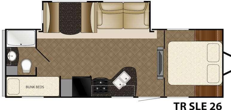 Floorplan - 2016 Heartland Trail Runner 26 SLE