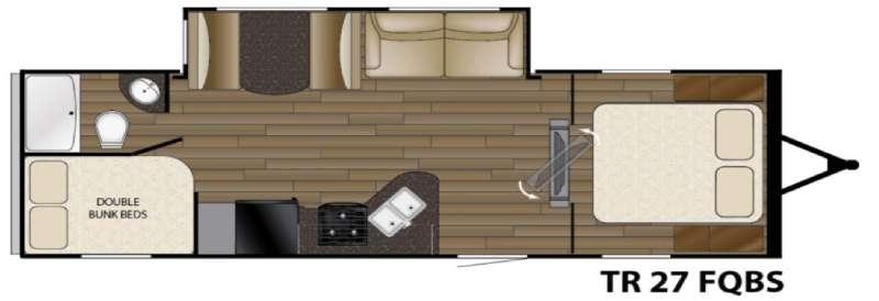 Floorplan - 2016 Heartland Trail Runner 27FQBS