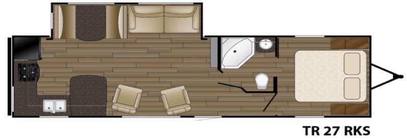 Trail Runner 27RKS Floorplan Image