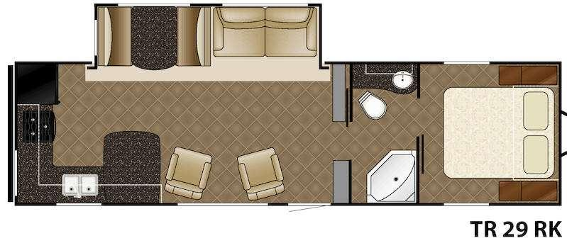 Trail Runner 29RK Floorplan Image