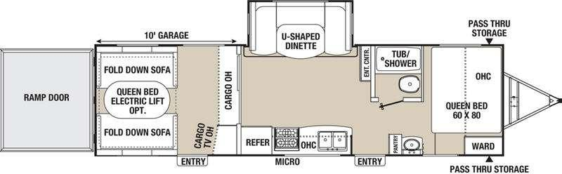 Floorplan - 2016 Coachmen RV Freedom Express 301BLDS
