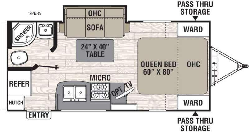 Floorplan - 2016 Coachmen RV Freedom Express 192RBS