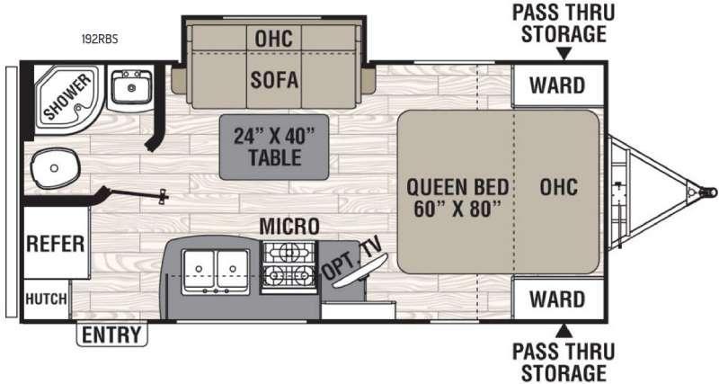 Floorplan - 2016 Coachmen RV Freedom Express 192RBS