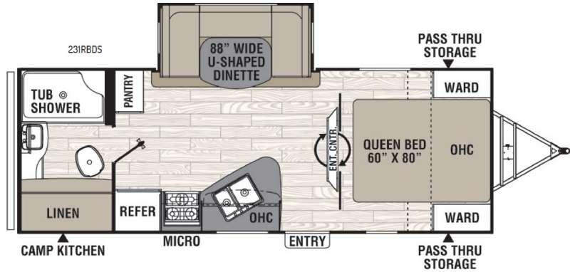 Floorplan - 2016 Coachmen RV Freedom Express 231RBDS