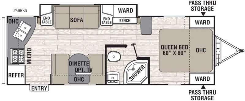 Floorplan - 2016 Coachmen RV Freedom Express 246RKS