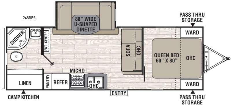 Freedom Express 248RBS Floorplan Image