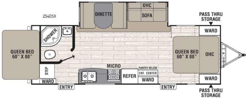 Floorplan - 2016 Coachmen RV Freedom Express 254DSX