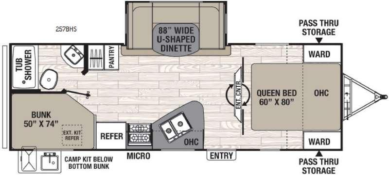 Floorplan - 2016 Coachmen RV Freedom Express 257BHS