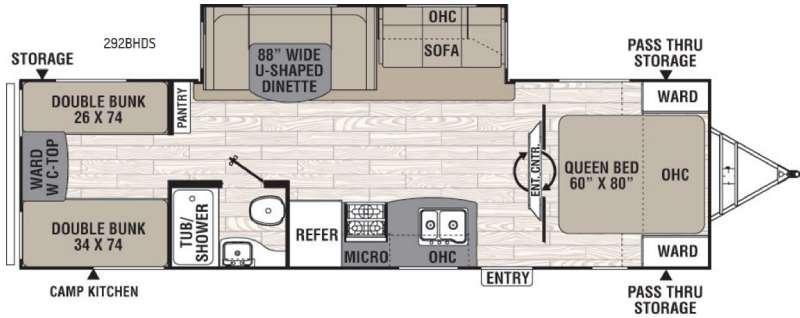 Freedom Express 292BHDS Floorplan Image