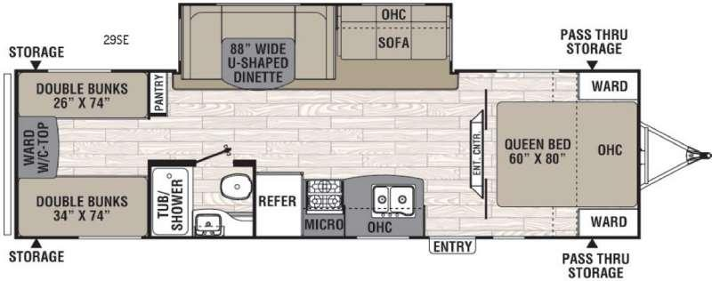 Floorplan - 2016 Coachmen RV Freedom Express 29SE