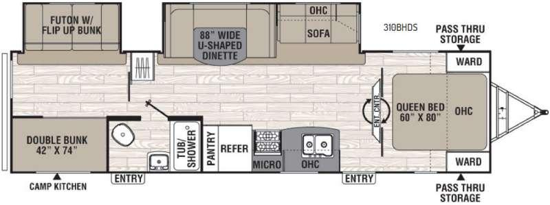 Floorplan - 2016 Coachmen RV Freedom Express 310BHDS