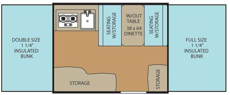 Clipper Camping Trailers 106 Sport Floorplan Image