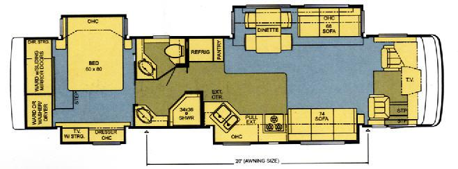 Floorplan - 2006 Newmar Kountry Star Diesel KSDP 3910
