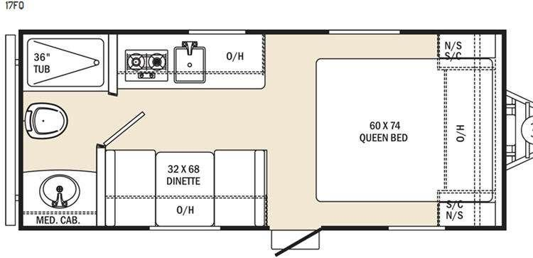 Floorplan - 2016 Coachmen RV Clipper Ultra-Lite 17FQ