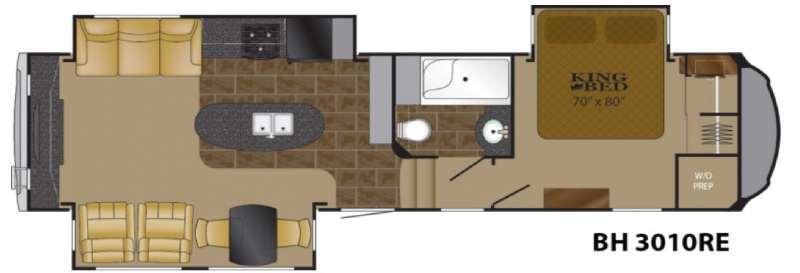 Floorplan - 2016 Heartland Bighorn 3010RE