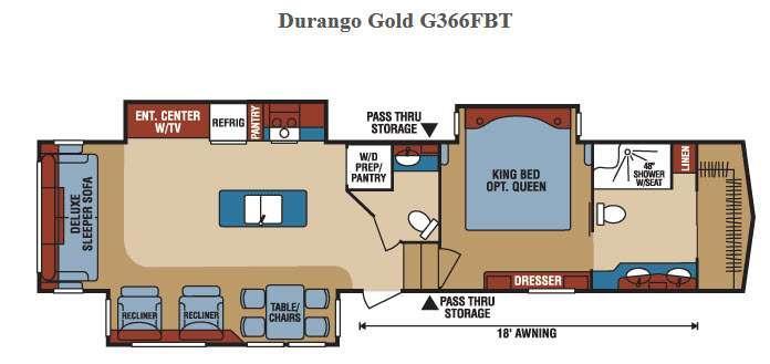 Floorplan - 2016 KZ Durango Gold G366FBT