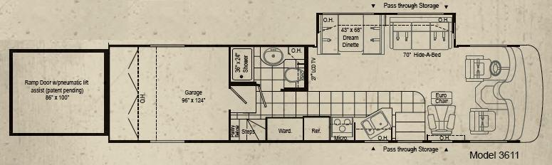Floorplan - 2007 Damon Outlaw 3611