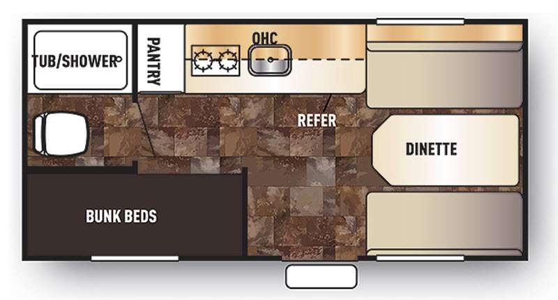 Floorplan - 2016 Forest River RV Cherokee Wolf Pup 16BH