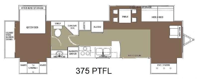 Floorplan - 2015 Allen Camper Manufacturing Idle-Time 375 PTFL