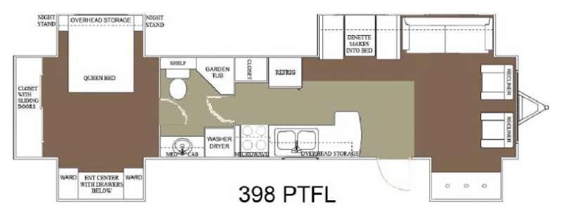 Floorplan - 2015 Allen Camper Manufacturing Idle-Time 398 PTFL