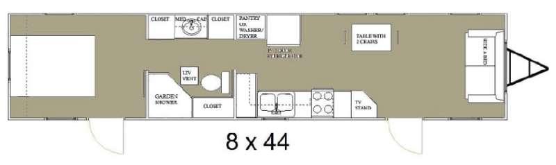 Floorplan - 2015 Allen Camper Manufacturing Idle-Time 8 x 44