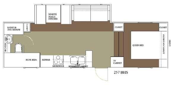 Floorplan - 2015 Allen Camper Manufacturing Outpost Lite 257 BHS