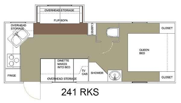 Floorplan - 2015 Allen Camper Manufacturing Outpost Lite 241 RKS