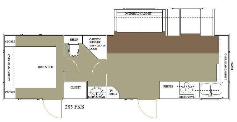 Floorplan - 2015 Allen Camper Manufacturing Outpost Lite 283 FKS