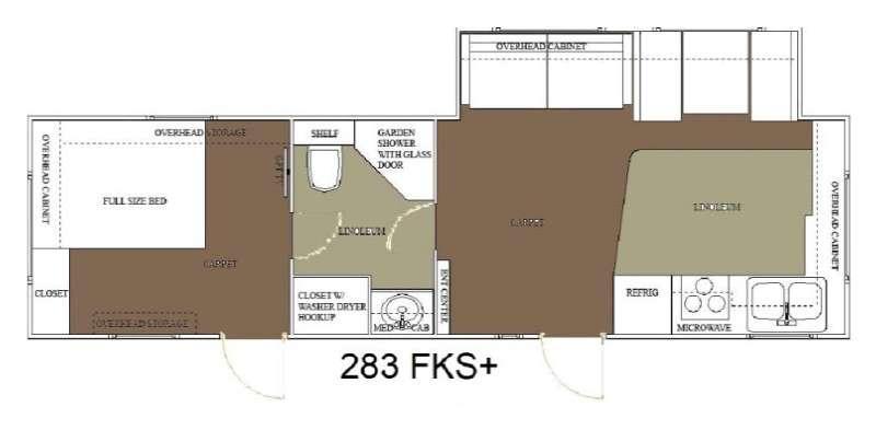 Floorplan - 2015 Allen Camper Manufacturing Outpost Lite 283 FKS plus