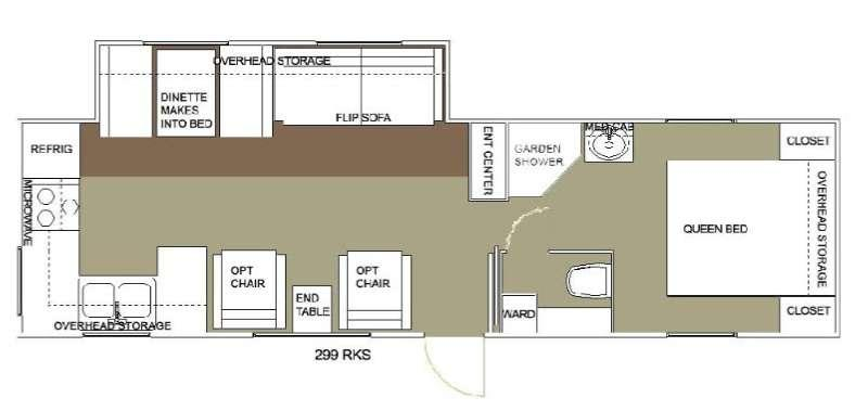 Floorplan - 2015 Allen Camper Manufacturing Outpost Lite 299 RKS