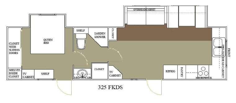 Floorplan - 2015 Allen Camper Manufacturing Outpost Lite 325 FKDS