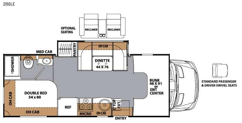 Floorplan - 2016 Prism 2150 LE Motor Home Class C - Diesel