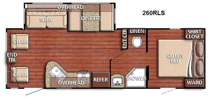 Floorplan - 2016 Gulf Stream RV Conquest 260RLS