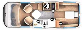 Floorplan - 2007 Roadtrek - 210 Popular 210-Popular