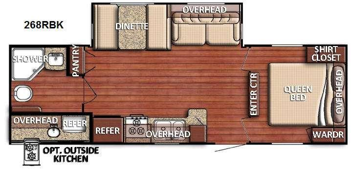 Floorplan - 2016 Gulf Stream RV Conquest 268RBK