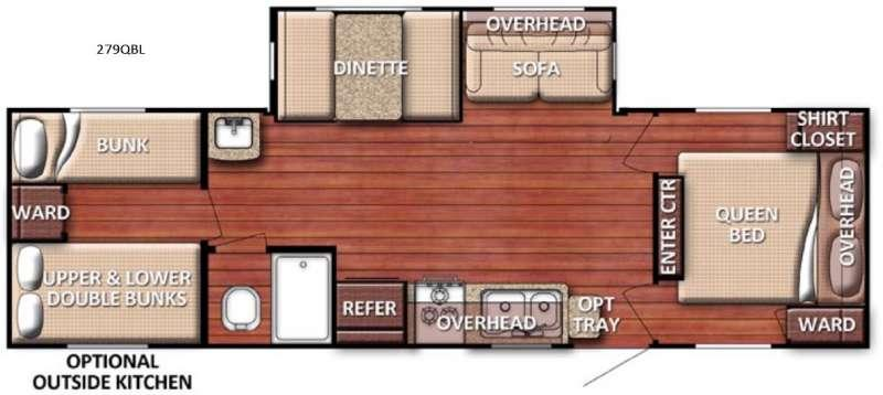 Floorplan - 2016 Gulf Stream RV Conquest 279QBL