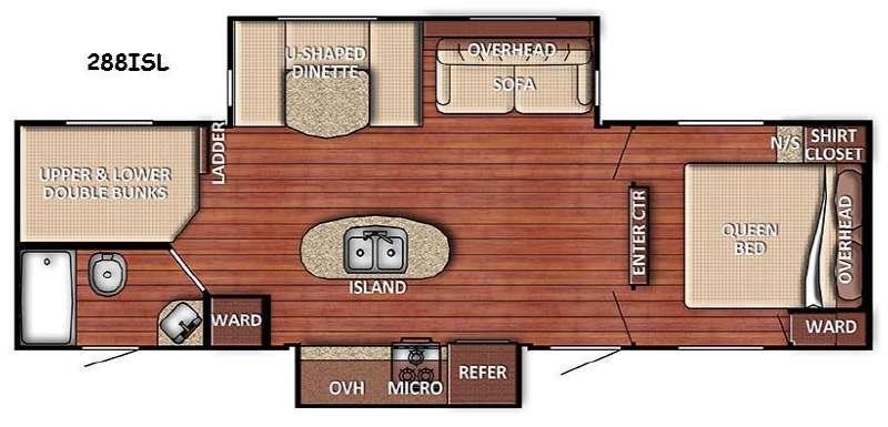 Floorplan - 2016 Gulf Stream RV Conquest 288ISL