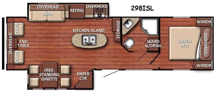 Floorplan - 2016 Gulf Stream RV Conquest 298ISL