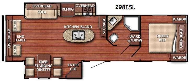Floorplan - 2016 Gulf Stream RV Conquest 298ISL