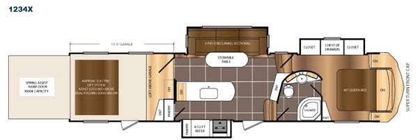 Floorplan - 2016 Prime Time RV Spartan 1234X
