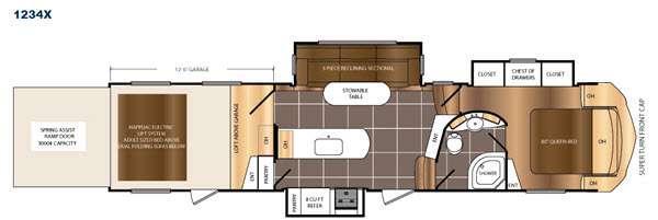 Floorplan - 2016 Prime Time RV Spartan 1234X