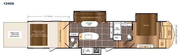 Floorplan - 2016 Prime Time RV Spartan 1240X
